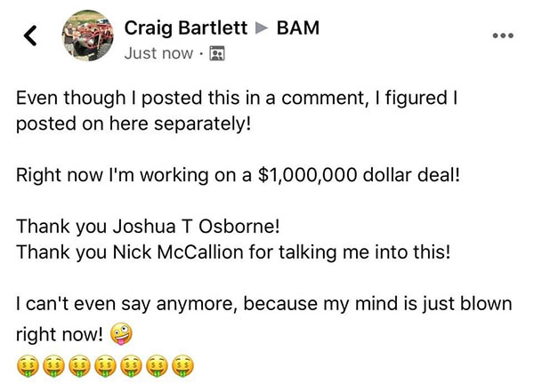 1 million dollar crazy deal
