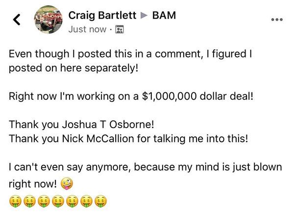 1 million dollar crazy deal