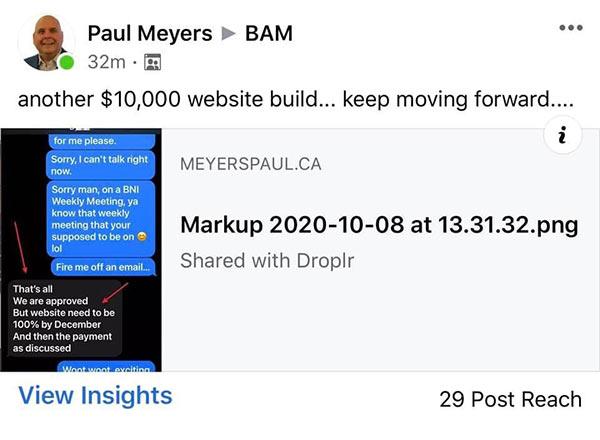 10k website build