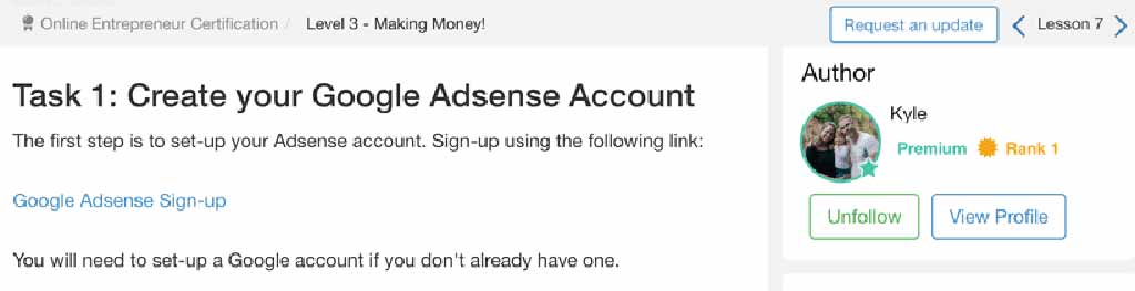 Wealthy Affiliate Kyle Explaining Google AdSense